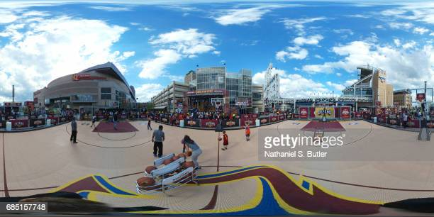 An exterior view of Quicken Loans Arena in Cleveland Ohio on May 1 during the 2017 NBA Playoffs NOTE TO USER User expressly acknowledges and agrees...