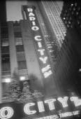 An exterior view of Radio City Music Hall New York 1995