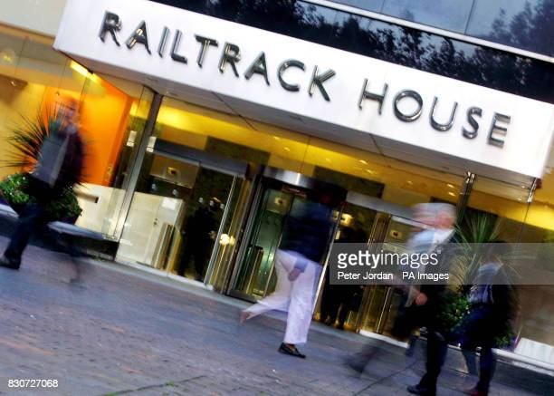 An exterior view of Railtrack House in Euston London where the collapsed firm said it reluctantly accepted there was no credible alternative to being...