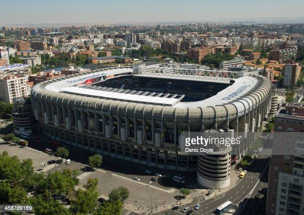 An exterior view of Real Madrid 's Santiago Bernabeu stadium on September 12 2013 The European Union has opened a probe into whether Real Madrid FC...