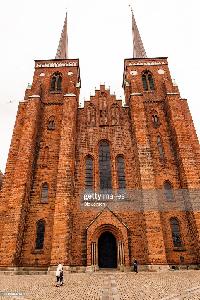 An exterior view of Roskilde Cathedral is seen on August 4, 2017 in Roskilde, Denmark. Danish Prince Henrik announced yesterday that he will not as planned accept to be buried with his wife Queen Margrethe. In an exclusive interview with the Danish daily, BT, royal communication manager Lene Balleby said that the Prince's decision is a consequence of the fact that he has not had equal status to the Queen. The Palace underlines that this does not mean that the Prince would be buried in another country.The sarcophagus has been created by Danish artist Bjoern Noegaard.