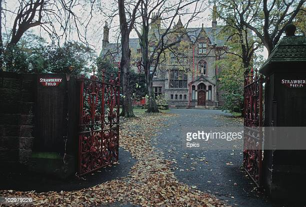 An exterior view of Strawberry Field a Dr Barnado's home in Woolton Liverpool November 1970 The home was immortalised in the Beatles song 'Strawberry...