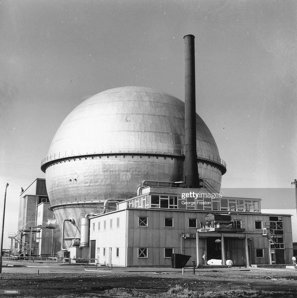 An exterior view of the advanced gas cooled reactor at Sellafield, (formerly known as Windscale) Nuclear Power Station, in Cumbria.