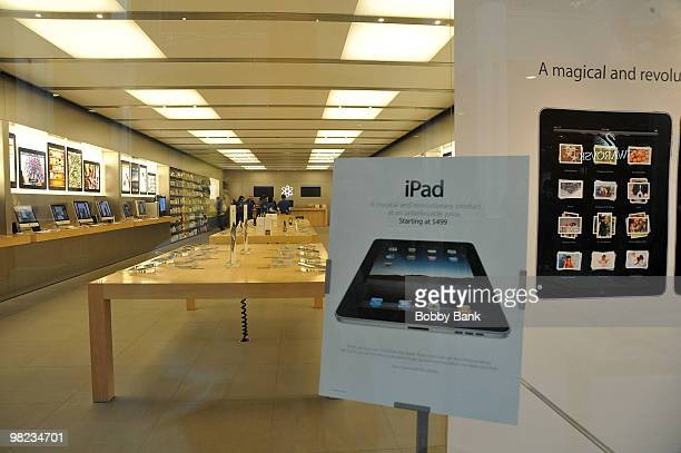 An exterior view of the Apple store is seen on April 3 2010 in Bridgewater New Jersey Debuting today the much heralded iPad looks to be a bridge...