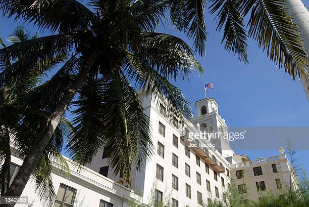 An exterior view of the Breakers Hotel is shown August 18 2002 in Palm Beach Florida It is reported that television journalist Bryant Gumbel and...