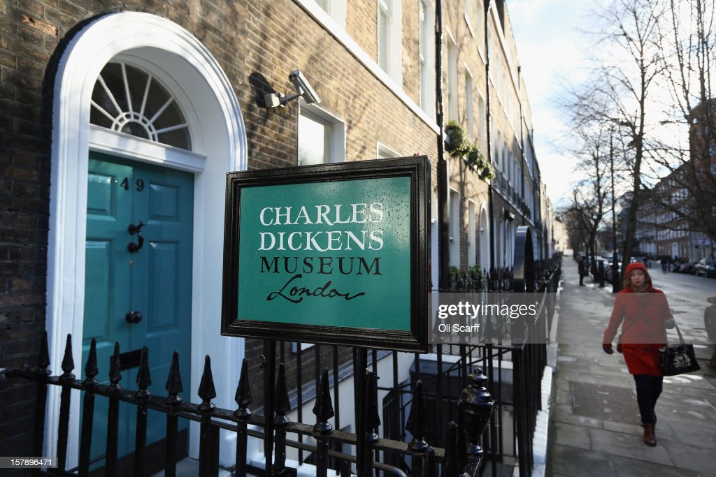 An exterior view of the Charles Dickens Museum on December 7, 2012 in London, England. The museum will re-open to the public on December 10, 2012 following a major 3.1 million GBP refurbishment and expansion programme to celebrate Dickens' bicentenary year. The museum is located in Charles Dickens' house on Doughty Street where he lived from 1837 until 1839 and in which he wrote many novels including Oliver Twist and Nicholas Nickleby.