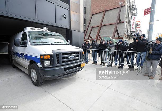 An exterior view of the Chelsea apartment building on March 17 2014 in New York City where fashion designer L'Wren Scott was found dead from an...