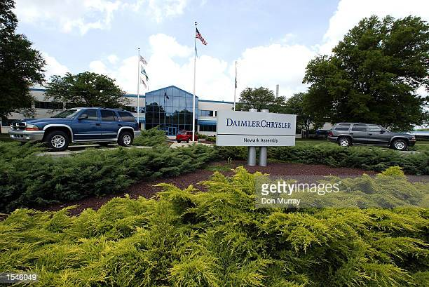 An exterior view of the Chrysler Group's Newark Assembly Plant May 30 2002 in Newark DE The automotive plant is the first in the world to take...