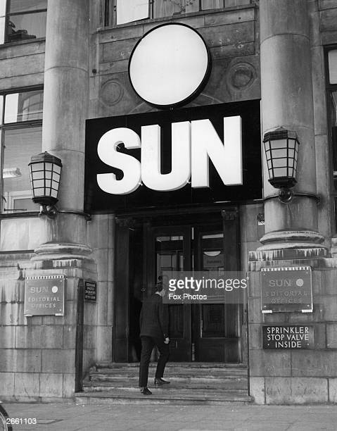 An exterior view of the editorial offices of the Sun newspaper