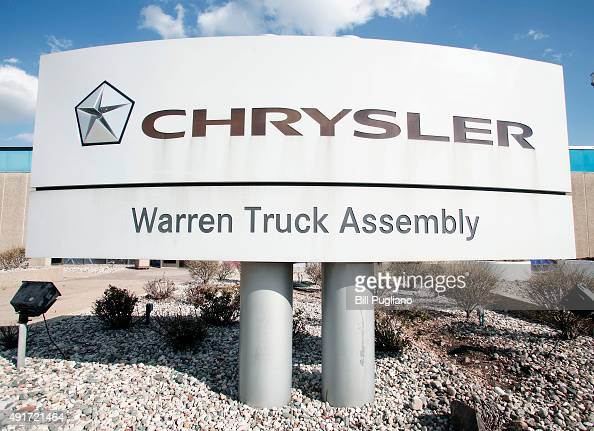 An exterior view of the Fiat Chrysler Automobile Warren Truck Assembly Plant October 7 2015 in Warren Michigan The United Auto Workers union has...