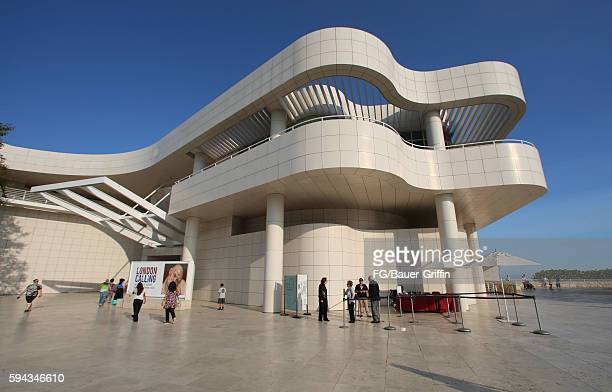 An exterior view of the Getty Center on August 22 2016 in Los Angeles California