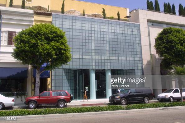 An exterior view of the Giorgio Armani store on Rodeo Drive September 6 2001 in Beverly Hills CA