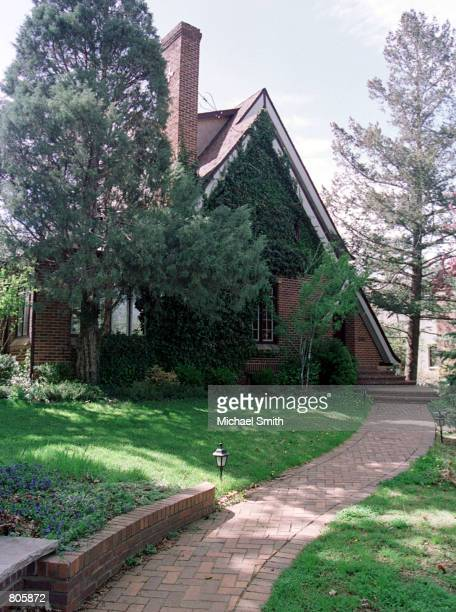 An exterior view of the home of John and Patsy Ramsey April 30 2001 in Boulder CO Retired investigator Lou Smit who was involved in the JonBenet...