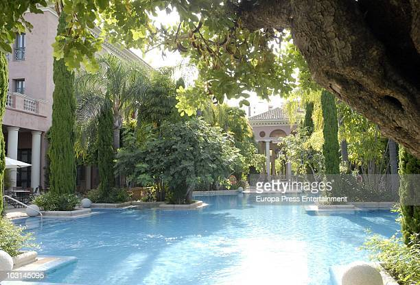 An exterior view of the hotel 'Villa Padierna' on July 28 2010 in Marbella Spain 'Villa Padierna' will host Michelle Obama wife of the President of...