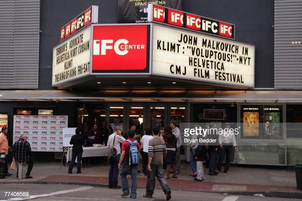An exterior view of the IFC Center during the screening of 'Quarterlife' presented by the CMJ FilmFest October 18 2007 in New York City