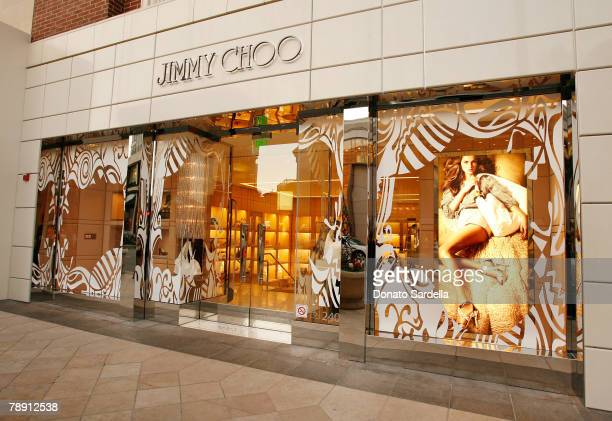 An exterior view of the Jimmy Choo Rodeo Drive flaghship store on January 11 2008 in Beverly Hills California