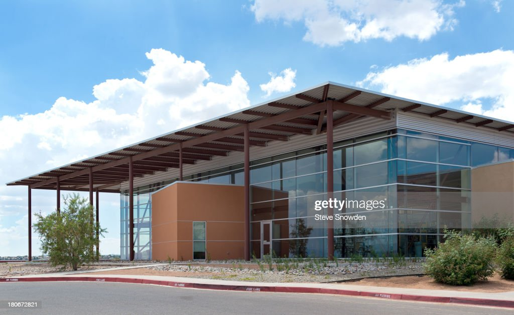 An exterior view of the Loma Colorado Library in Rio Rancho, New Mexico on September 2, 2013. The library was used as Mesa Credit Union in the 'Breaking Bad' pilot and later in a flashback in Season 3 episode, 'Mas'.