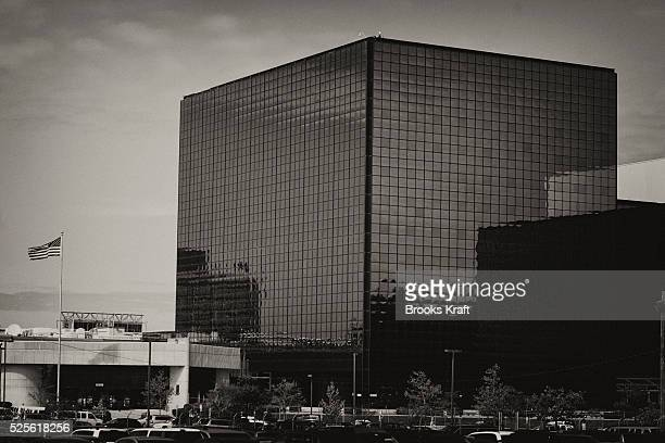 An exterior view of the National Security Agency headquarters in Fort Meade Maryland outside Washington DC The NSA is the central producer and...