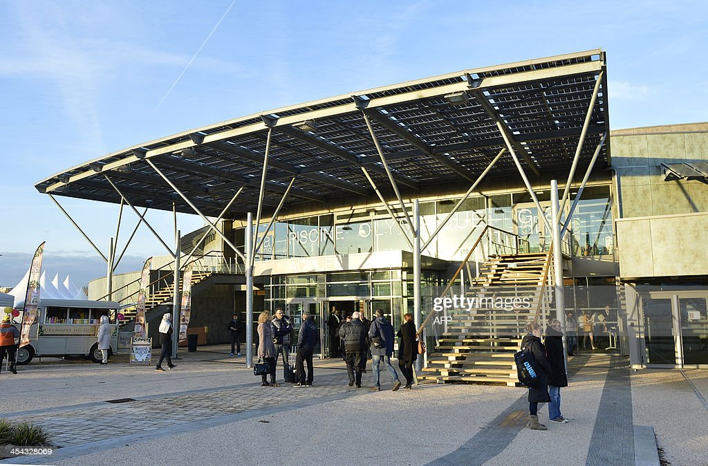 an exterior view of the olympic swimming pool in dijon on december 8 2013 - Olympic Swimming Pool 2013