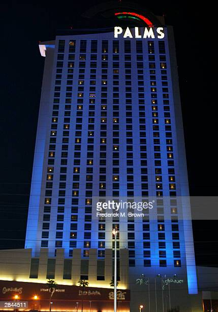 An exterior view of the Palms Casino Hotel where recording artist/bride Britney Spears and groom Jason Allen Alexander stopped before proceeding to...