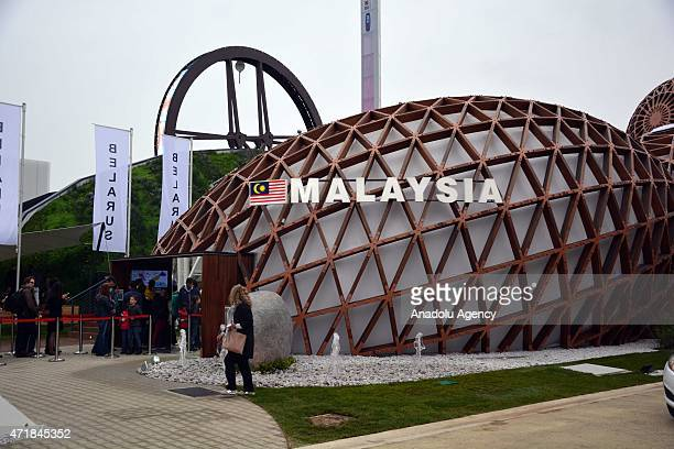 An exterior view of the pavilion of Malaysia during the official opening day of the Expo 2015 in Milan Italy 01 May 2015 The sixmonth event will run...