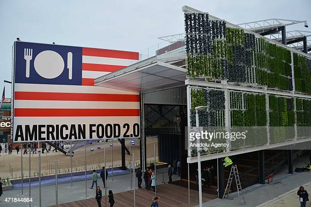 An exterior view of the pavilion of USA during the official opening day of the Expo 2015 in Milan Italy 01 May 2015 The sixmonth event will run until...