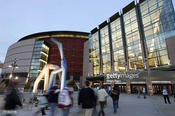 An exterior view of the Pepsi Center taken before opening night for the Dallas Stars at the Colorado Avalanche on October 4 2006 in Denver Colorado