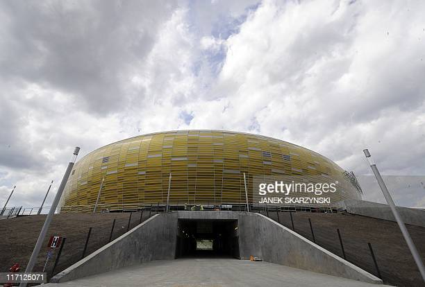 An exterior view of the PGE Arena football stadium in Gdansk northern Poland on June 22 2011 The stadium is one of the venues for the Euro 2012...