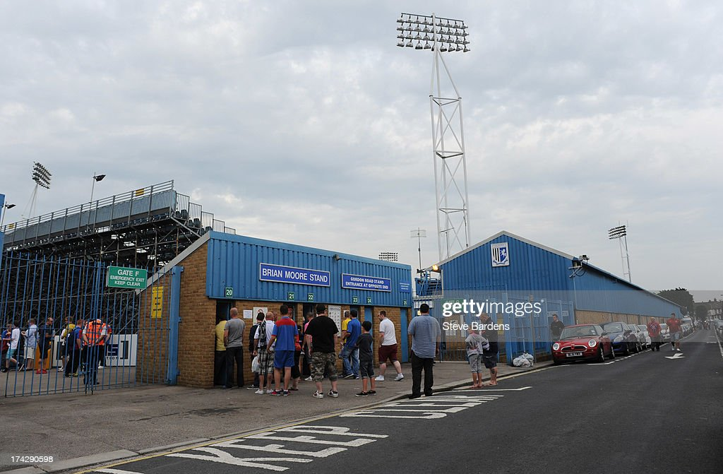 An Exterior view of the Priestfield Stadium before the pre season friendly match between Gillingham and Crystal Palace at Priestfield Stadium on July 23, 2013 in Gillingham, Medway.