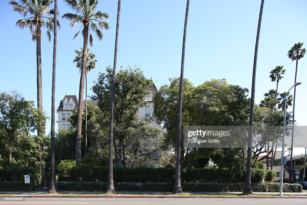 An exterior view of the Scientology Celebrity Center in Hollywood on May 24, 2016 in Los Angeles, California.