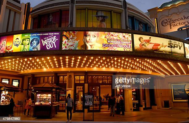 An exterior view of the theater at VH1's 'Candidly Nicole' Season 2 Premiere Event at House of Harlow at The Grove on July 7 2015 in Los Angeles...