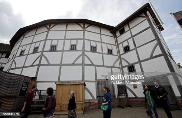 An exterior view of the theatre after the launch of Shakespeare's Globe Theatre's twoyear world tour of Hamlet to mark the 450th anniversary of...