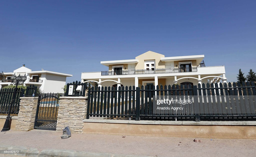 An exterior view of the US diplomatic compound in Libya that is allegedly under the control of members of the Fajr Libya is seen in Tripoli Libya on...
