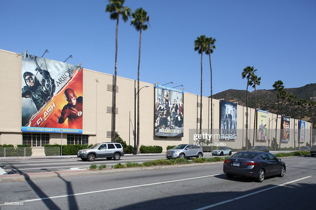 An exterior view of Warner Bros studios in Burbank on May 24 2016 in Los Angeles California