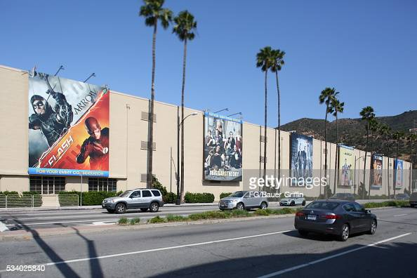An exterior view of Warner Bros studios in Burbank on May 24 2016 in Los Angeles California
