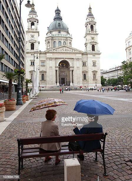 An external view of St Stephen's Basilica on May 30 2010 in Budapest Hungary Budapest is a big european city and the hungarian capital with more than...