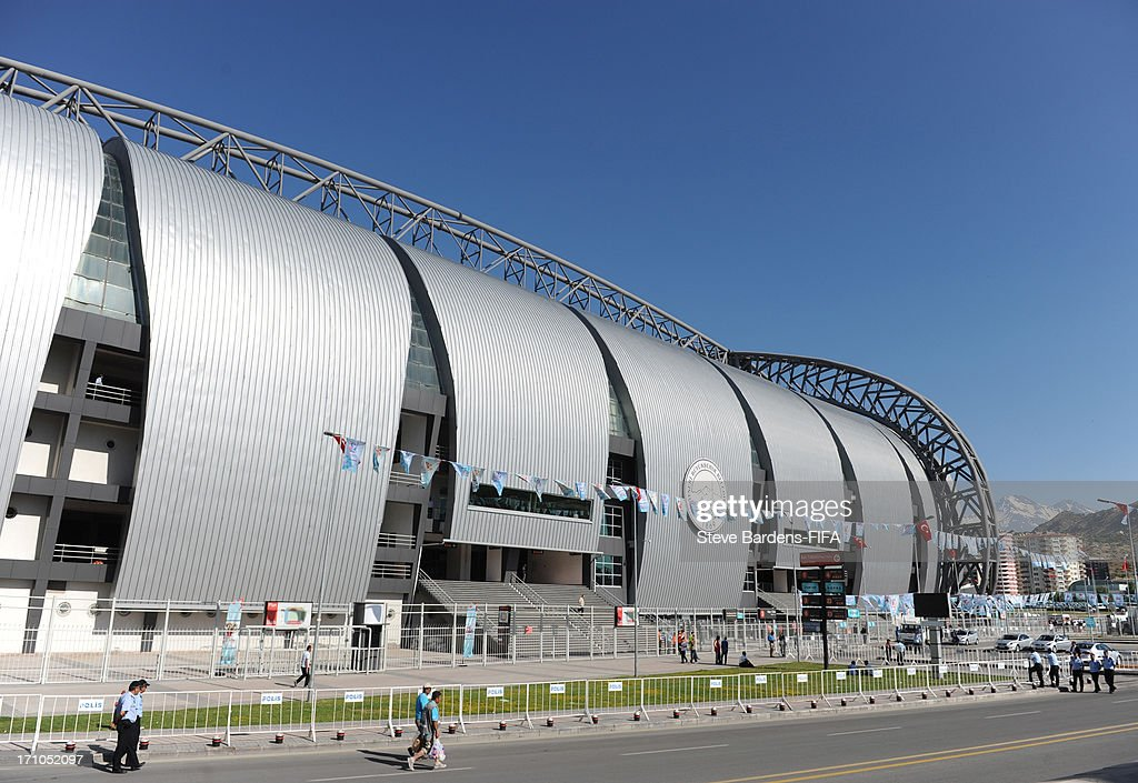 An External view of the Kadir Has Stadium before the FIFA U-20 World Cup Group B match between Cuba and Korea Republic at Kadir Has Stadium on June 21, 2013 in Kayseri, Turkey.