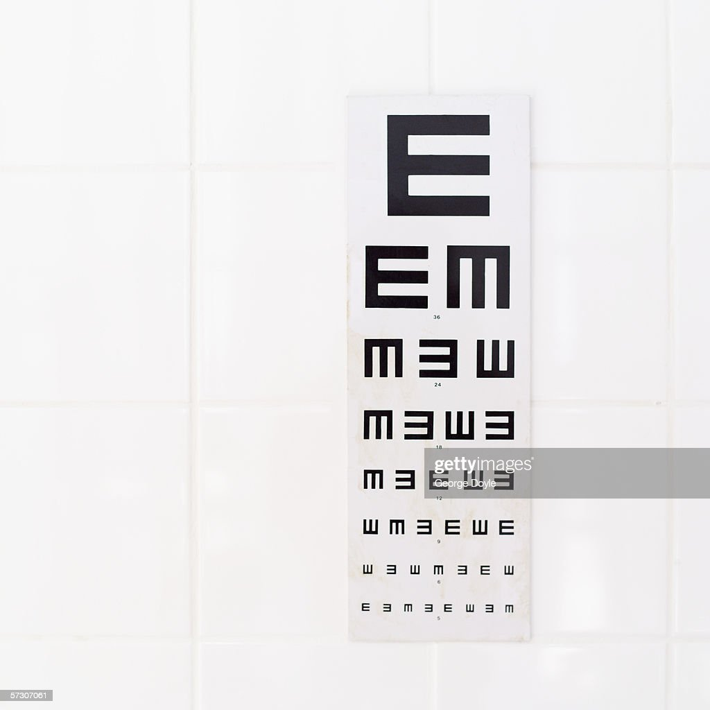 an eye chart
