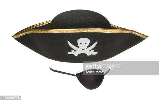 An eye patch and a pirates hat