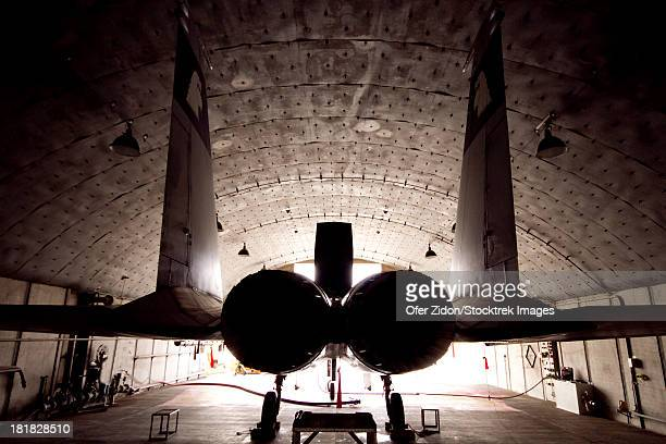 An F-15C Baz of the Israeli Air Force inside its hardened shelter at Ovda Air Force Base, Israel.