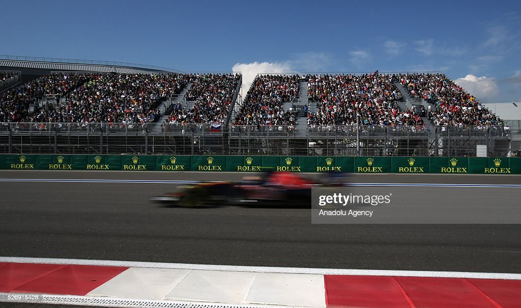 An F1race during the Formula One Grand Prix of Russia at Sochi Autodrom in Sochi, Russia on May 01, 2016.