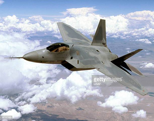 An F22 Raptor 4001 stealth fighter practices test manovers above the Mojave Desert in this undated file photo The Pentagon gave Lockheed Martin...