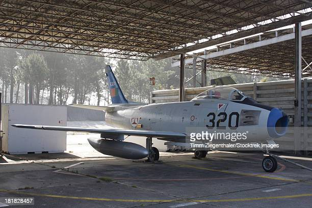 An F-86 Sabre of the Portuguese Air Force, Monte Real, Portugal.