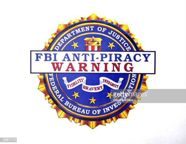 An FBI antipiracy seal to be displayed on digital and software intellectual property is unveiled at a press conference February 16 2004 in Los...