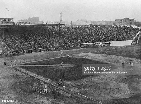 An general view of Fenway Park circa 1912 in Boston Massachusetts