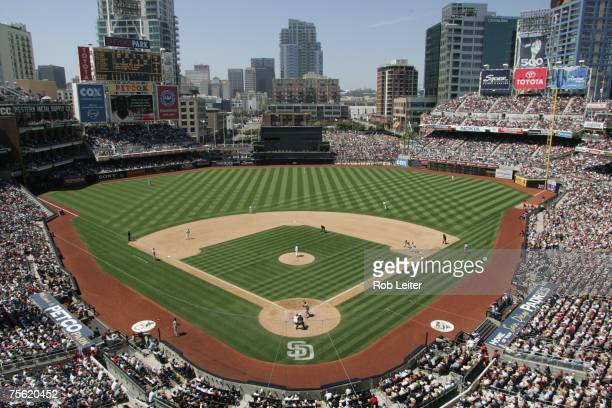 An general view of Petco Park during the Boston Red Sox game against the San Diego Padres at Petco Park in San Diego California on June 24 2007 The...
