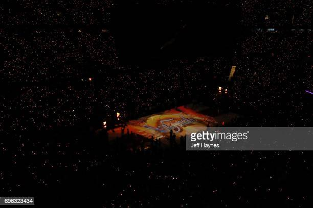 An general view of the Interior of Quicken Loans Arena before the game between the Golden State Warriors and the Cleveland Cavaliers in Game Four of...