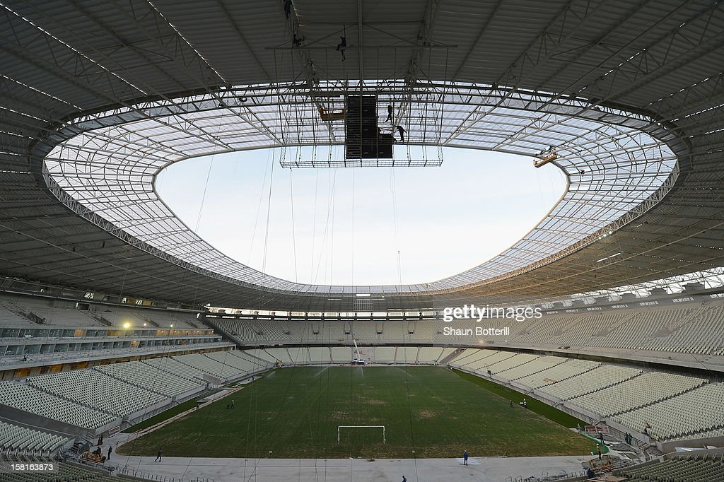 An general view of the of the Arena Castelao venue for the FIFA 2014 World Cup on December 10, 2012 in Fortaleza, Brazil.