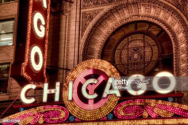 An HDR of the famous Chicago Theater Marquee