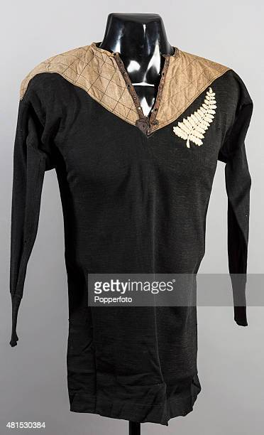 An historic New Zealand 'Original All Blacks' shirt from the tour of the British Isles France and the United States in 19051906 The Original All...